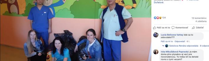 Darovanie oblečenia pre detské oddelenie NSP